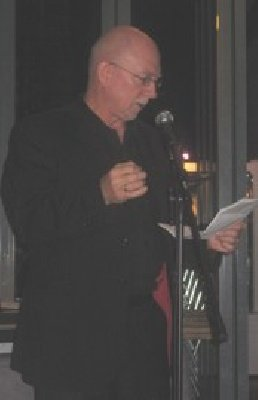 Poet Dave Morgan reads at the launch of the Censorship issue of Citizen 32