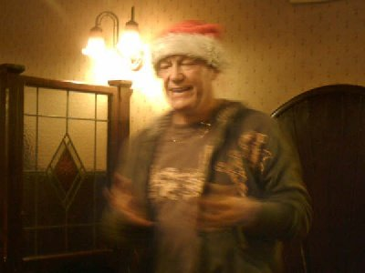 Gordon Zola performs his one man opera at the Christmas Party at the Howcroft Inn Bolton