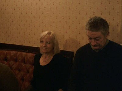 Hilary Walker & Bill Kelly at the Christmas Party at the Howcroft Inn Bolton