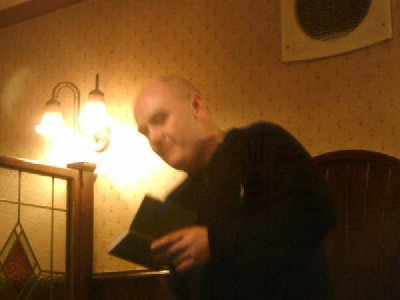 Malcolm Whittle at the Christmas Party at the Howcroft Inn Bolton