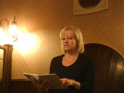 Hilary Walker wows us at the Christmas Party at the Howcroft Inn Bolton